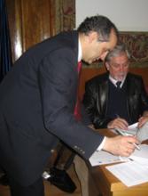 Firma Convenio de Colaboración entre la Asociación Española de Genética Humana, la Federación de Asociaciones de Retinosis Pigmentaria de España  y la Fundación Lucha Contra la Ceguera