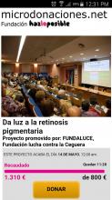 FUNDALUCE gana el RETO en Microdonaciones.